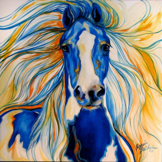 наряд в год синей лошади 2014