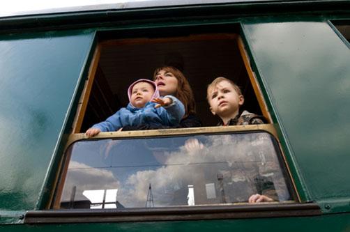Пересечение границы Украины с ребенком