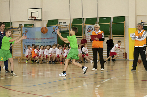 Подвижныеигры с элементами баскетбола