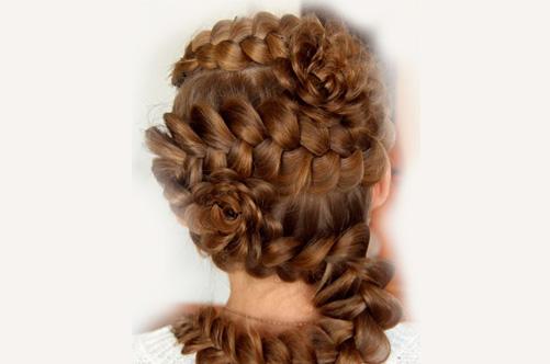 Прически с косами на выпускной