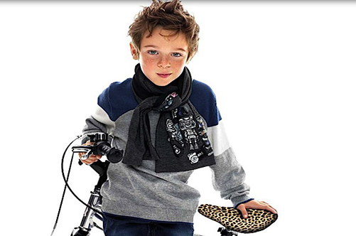 вязанная детская мода