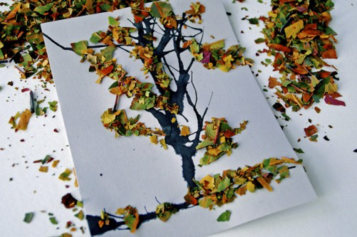 Большие листья своими руками
