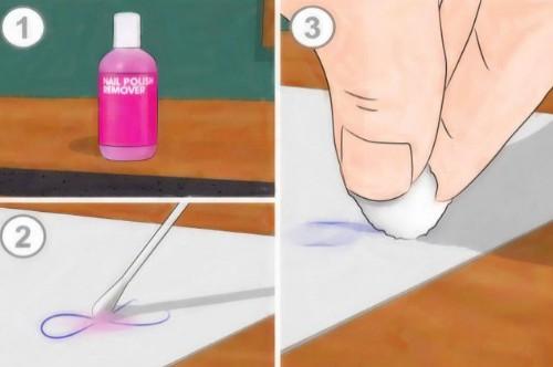 Как стереть ручку без следов в домашних условиях