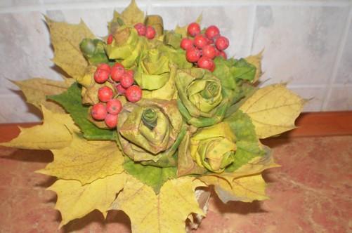Осенние букеты из природного материала своими руками для