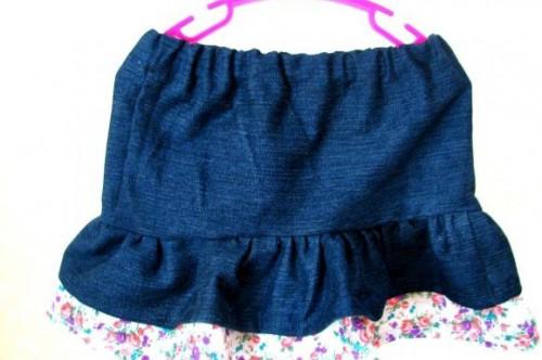 Джинсовая юбка для девочки пошить