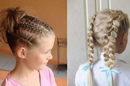 Причёски в школу для девочек 11 лет самой себе