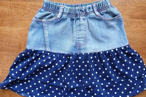 Сшить детскую юбку своими руками из джинс